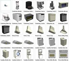 Sketchup Appliances 3D models download – CAD Design   Free CAD Blocks,Drawings,Details
