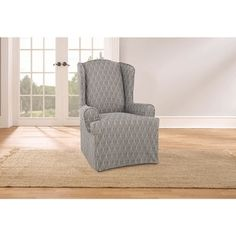 Added To Cart - Sure Fit Waverly Strands Wing Chair Slipcover - Free Shipping Today - Overstock.com - 19920746 - Mobile