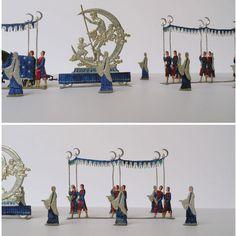 Tennfigurer från 1930-t. Den tyska konstens 2000 års festtåg