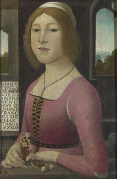 Costanza Caetani  probably about 1480-90, Style of Domenico Ghirlandaio