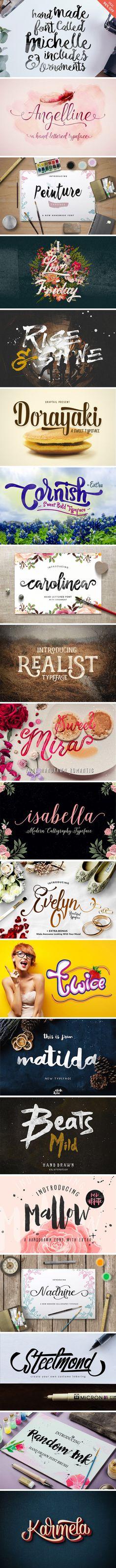 Top Creative Font Bundle | GraphicBurger
