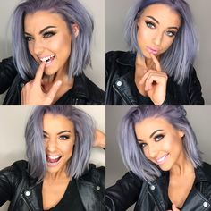 Blue Wigs Lace Hair Lace Frontal Wigs Descendants 3 Wigs Red Hair To Blue Blue And Purple Highlights In Blonde Hair Brown Ombre Hair, Ombre Hair Color, Hair Color And Cut, Cool Hair Color, Lilac Hair, Blue Hair, Gray Hair, Purple Blonde Hair, Pastel Purple Hair