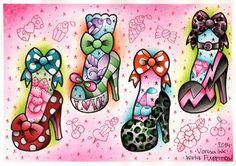 Vorssa Ink by Kata Puupponen Tattoo Flash Print Sheet by VorssaInk