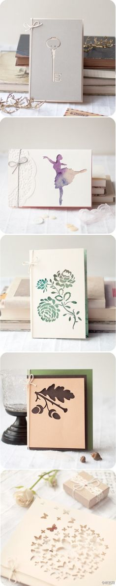 layering paper card