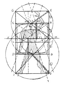 Le Corbusier, Le Modulor (1948) Le Corbusier, Elements And Principles, Bauhaus Design, Famous Architects, Technical Drawing, Architecture, Line Drawing, Geometry, Art Photography