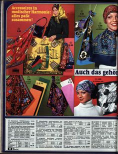 1972 Quelle 88 Tücher