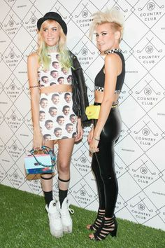 Mim Nervo sporting my 3rd Eye Bracelet at the Refinery 29 Country Club Party  49 Crazy Party Pics From R29 Country Club #refinery29  http://www.refinery29.com/2014/09/74010/refinery29-country-club-party#slide45  Australian music-duo (and twins!) Nervo bring their style to the red carpet (just look at Olivia's Drake ensemble!).