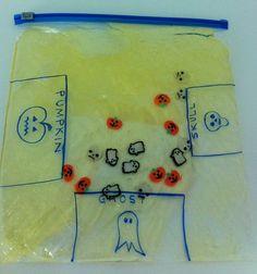 love the idea of using a sensory bag to work on fine motor skills Motor Activities, Autumn Activities, Sensory Activities, Activities For Kids, Sensory Motor, Sensory Bags, Sensory Play, Montessori, Pediatric Ot
