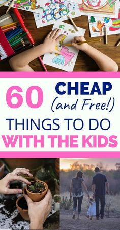 Some great ideas for free things to do with your kids when they're bored. There are dozens of cheap and free kids activities, things to do with kids in summer and in winter or when you're at home, something for everybody! Winter Activities for Kids Things To Do At Home, Cheap Things To Do, Things To Do When Bored, Free Things To Do, Fun Things For Kids, Winter Activities For Kids, Family Activities, Kids Activity Ideas, Kids Fun