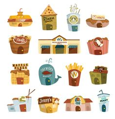 Bon Appétit Games Identity by Katie Orzel, via Behance Icon Design, Web Design, Identity, Taco Time, Bon Appetit, Teaching Kids, Behance, Games, Design Web