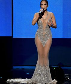 Host Jennifer Lopez speaks onstage during the 2015 American Music Awards at Microsoft Theater on November 22, 2015 in Los Angeles, California