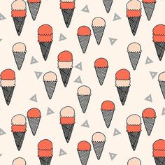 Ice Cream Cones Crib Sheet Blush/Coral by LittleSlumber on Etsy, $62.00