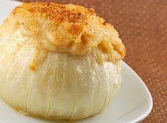 Baked Stuffed Vidalia Onions Yum… I'd Pinch That! Vidalia Onion Recipes, Vidalia Onions, Shallot Recipes, Veggie Side Dishes, Vegetable Dishes, Vegetable Salad, Main Dishes, Side Recipes, Vegetable Recipes