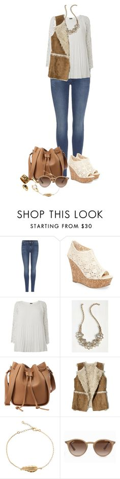"""Untitled #1365"" by ally-624 ❤ liked on Polyvore featuring 7 For All Mankind, Kendall + Kylie, Phase Eight, Hollister Co. and Ray-Ban"