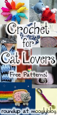 Free Crochet Patterns for Cat Lovers! Toys, accessories, beds and more! #crochet