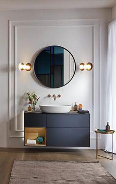 Complete Bathrooms, Big Bathrooms, Beautiful Bathrooms, Bad Inspiration, Bathroom Inspiration, Bathroom Ideas, Blue Master Bedroom, Deco Zen, Blue Vanity