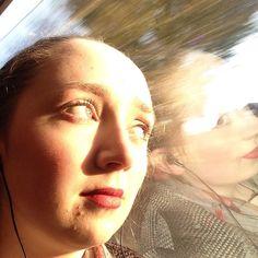 Artsy train selfie!