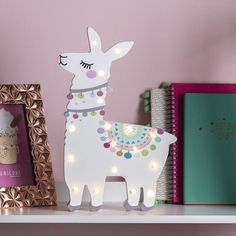 I've just found Wooden Llama Light. Add some sparkle to your shelves with this whimsical little wooden llama light.. £19.00