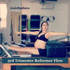 "58 Likes, 3 Comments - Ale Alpuche Ramos (@alefitpilates) on Instagram: ""3rd trimester Reformer Flow. I know that tiredness has taken over you lately at this stage (I am…"""