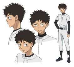 Big Windup character design: Abe Takaya
