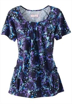 Koi Dakota Melting Pop print scrub top. Wearing this one today, love it!,