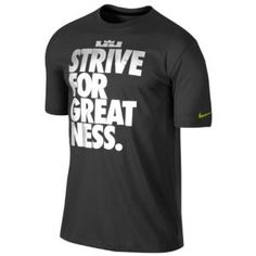 Nike Lebron Strive For Greatness T-Shirt - Men's - Basketball - Clothing - Black/Black