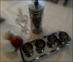Chase 1930s Art Deco Cocktail Shaker Set by ShelbyTimbers on Etsy, $190.00