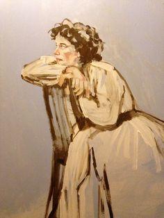 Portrait work in progress by Dunja