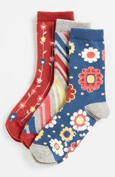 Nordstrom 'Far Out' Crew Socks (Toddler Girls Little Girls) Funky Socks, Crazy Socks, My Socks, Cool Socks, Toddler Crocs, Toddler Girls, Toddler Outfits, Girl Outfits, Custom Socks