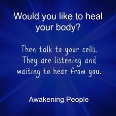 Innate is listening, make the connection and be healed.