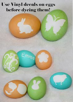 Use Vinyl on Easter eggs (before you dye them!) @VinylExpressions