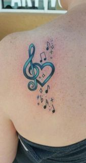 63 Ideas For Music Note Tattoo On Wrist Heart Tatoo Music Tattoo Designs, Music Tattoos, Tattoo Designs For Women, Body Art Tattoos, New Tattoos, Ankle Tattoos, Music Symbol Tattoo, Design Tattoos, Symbol Tattoos