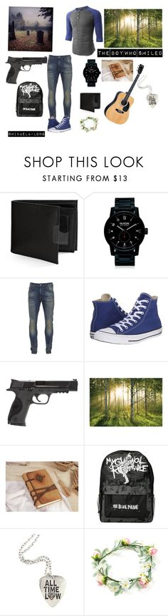 """The boy who smiled story bye me idk if I will put it online but yeah.."" by mikaelalong ❤ liked on Polyvore featuring Perry Ellis, Nixon, Scotch & Soda, Converse, LE3NO, Smith & Wesson, 1Wall, men's fashion and menswear"