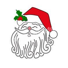 Heat Transfer Printing and Rhinestone Transfers for Christmas Santa