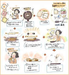 How to make delicious breakfast. It's really easy way Cute Food, Yummy Food, My Coffee Shop, Star Food, How To Make Breakfast, Food Illustrations, Food Menu, Japanese Food, Food Art