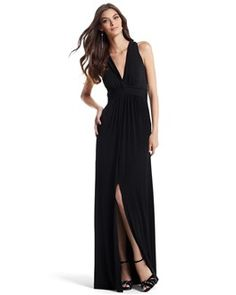 Purchased this WHBM dress,seems nice,but I plan to sew the slit shut and add a bold or textural belt,i don't have any long dresses
