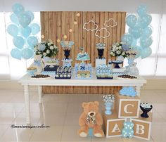 Como organizar un baby shower: tendencias – Deco Ideas Hogar Baby Shower Decorations For Boys, Boy Baby Shower Themes, Baby Decor, Baby Shower Parties, Baby Boy Shower, Cow Baby Showers, Baby Tea, Teddy Bear Baby Shower, Shower Bebe