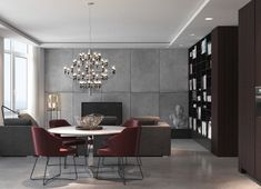 Great dining room design with red color... | Visit : roohome.com    #diningroom #design #decoration #amazing #awesome #Gorgeous #great #interior #elegant