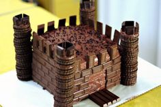 Chocolate Castle - I would enjoy making one of these :)