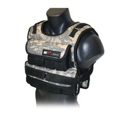 "MIR - CAMO ADJUSTABLE WEIGHTED VEST (Short, 60). Every items comes with weights included. Short Model Only 11"" in length. Pro Model 15"" in length. SHIPPING WEIGHT: Calculated only at 20lbs rate to lower shipping cost to save you money for all items. One size fits most. Manufacture warranty included. Weights can be removed in all models. Weights adjustable in 3lbs increments. Please check product description for weight capacities. Camouflage finish on front and back of the vest."