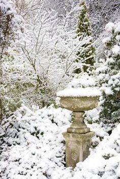 Garden Urn in Snow