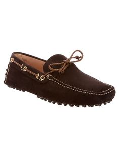 #Brown #suede #loafer from Car Shoe