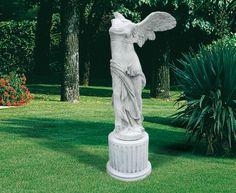 "Nike Di Samotracia (Nike of Samothrace) #414 - 551.25 lbs. - 61.02"" tall - Garden Statuary"