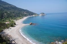 Potami beach and waterfall. Samos
