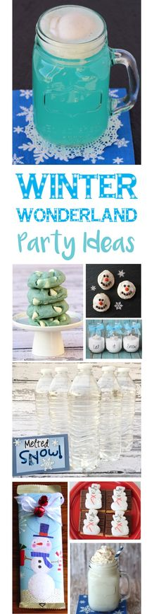 20 Winter Wonderland Party Ideas!  Fun Decorations, Food and more for the ultimate winter parties!   TherugalGirls.com