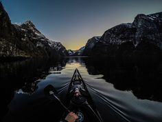 Night on the fjord by Tomasz Furmanek