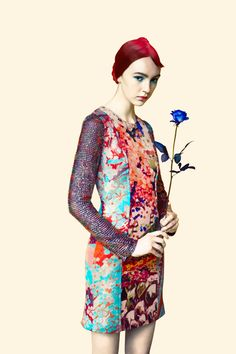 Mary Katrantzou SS12 fashion illustration by Erik Madigan Heck