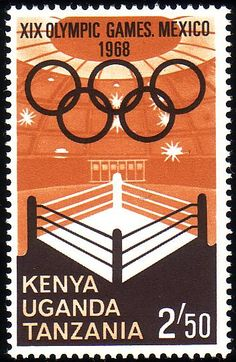 Stamp from Kenya, Uganda, Tanzania   Mexico City 1968, Olympic Games