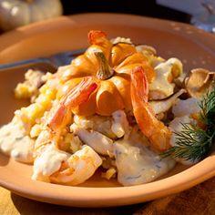 Pumpkin Risotto with Shrimp | MyRecipes.com