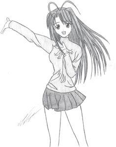 Naru character sketch by SALangley.deviantart.com on @deviantART